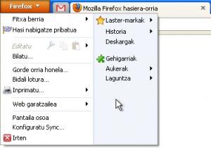 Firefox menua