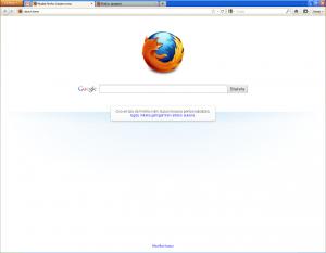 Firefoxen interfaze nagusia Windowsen