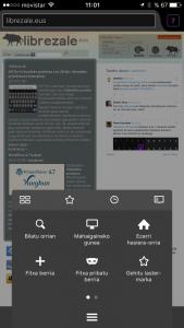 Firefox euskaraz iPhonean